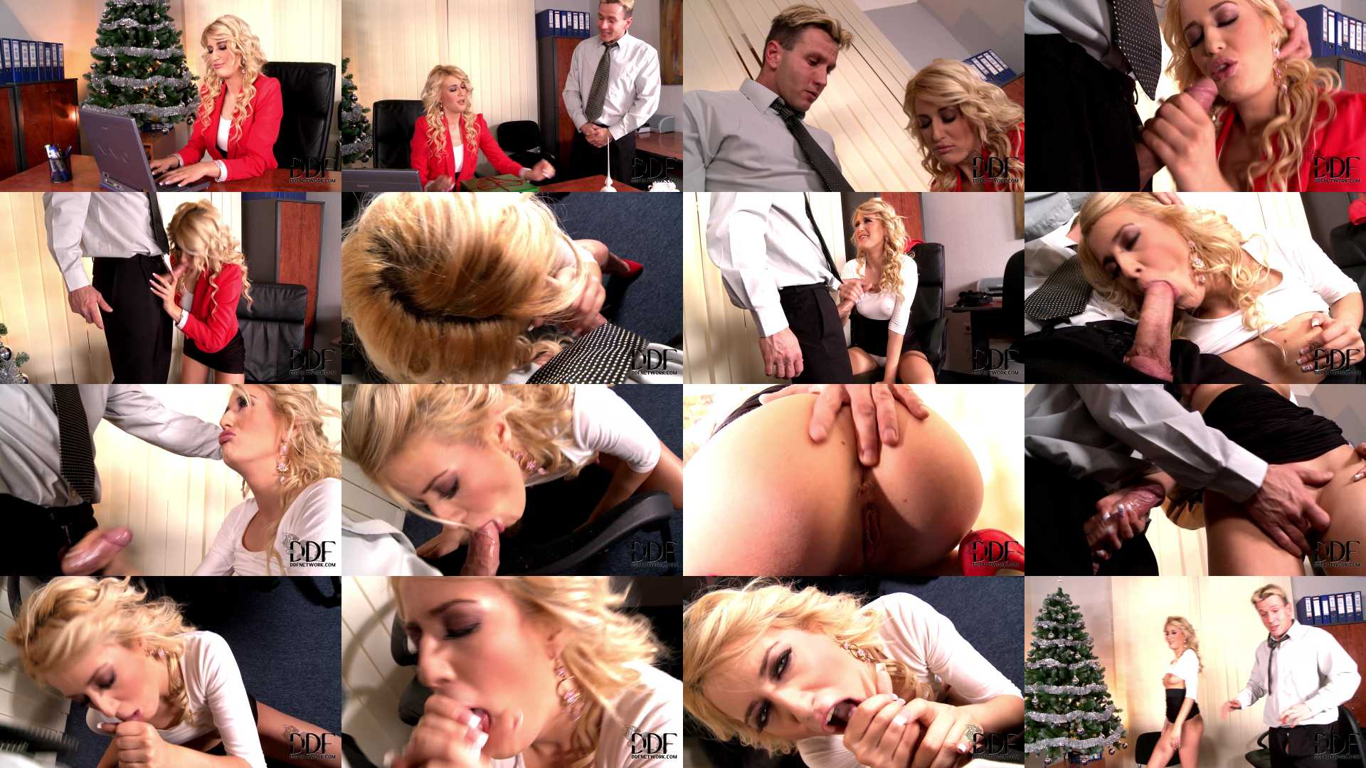 Blanche in Hot Christmas blowjob in office