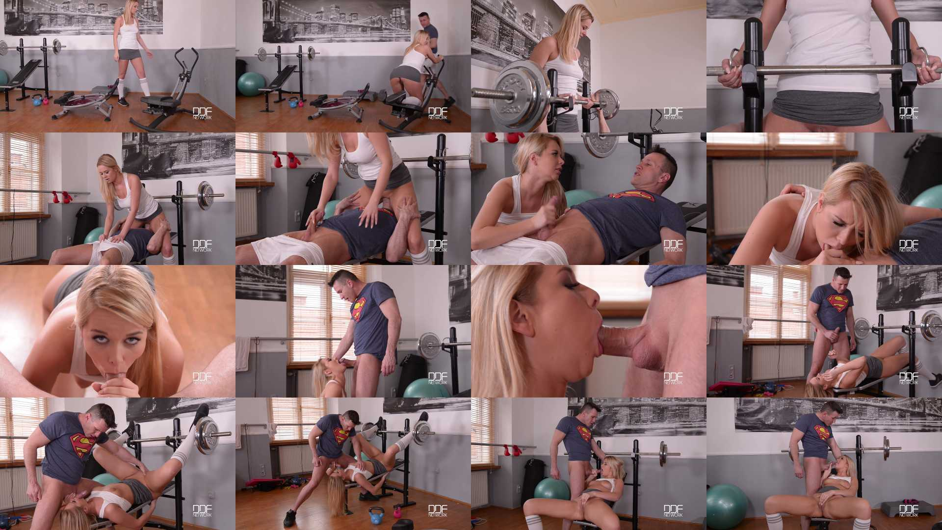 Nikky Dream in Bench Press 69 - A Blowjob Workout With Some Ball Licking