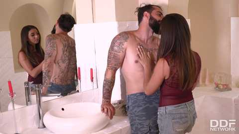 Latina Sucks A Plumber's Pipe